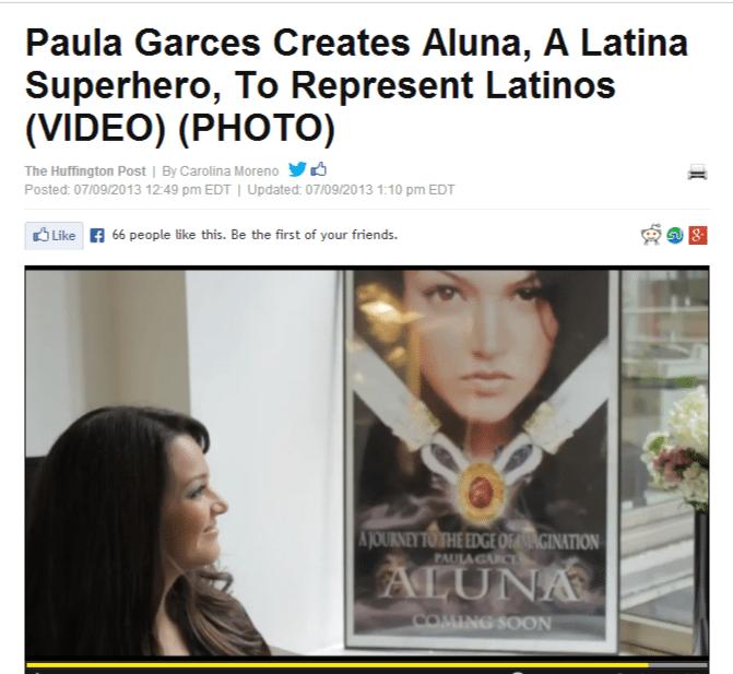 Paula Garces Creates Aluna, A Latina Superhero, To Represent Latinos  VIDEO   PHOTO