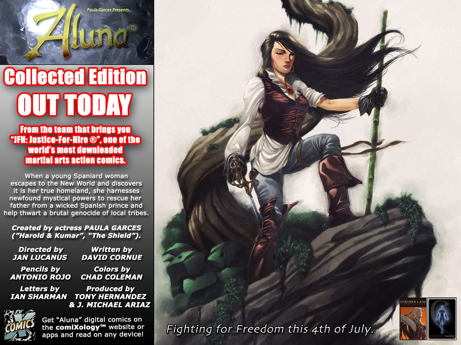 Paula Garces Aluna on Comixology