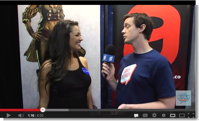 Actress Paula Garces, Comic Con and Nerd Big announcements video interview