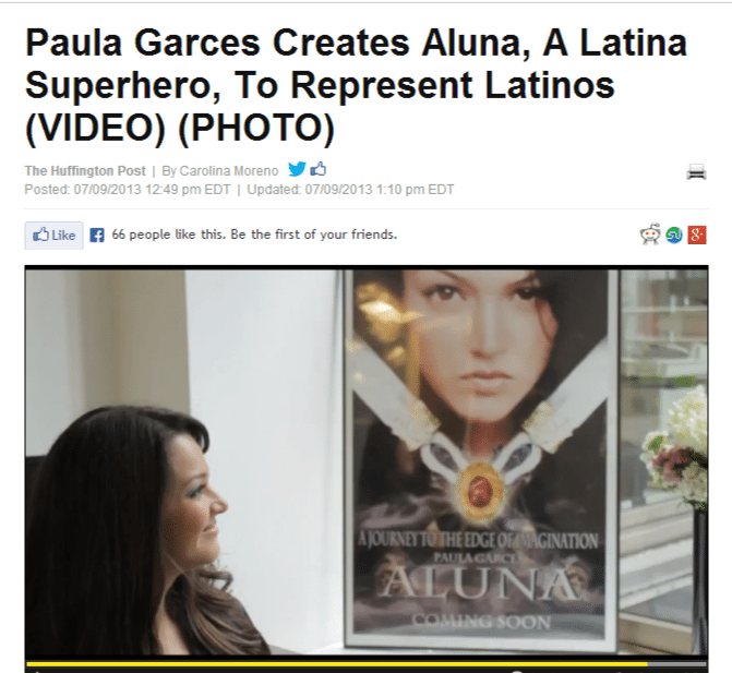 Paula Garces Creates Aluna, A Latina Superhero, To Represent Latinos  VIDEO   PHOTO